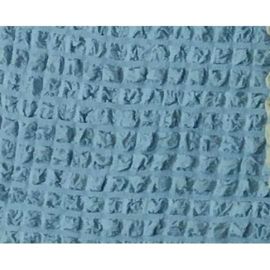 Чехол с оборкой Диван + 2 кресла, Голубой