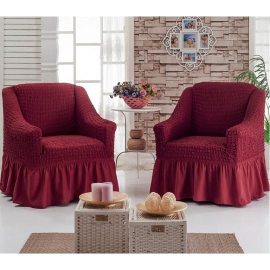 Чехол на 2 кресла, Бордовый
