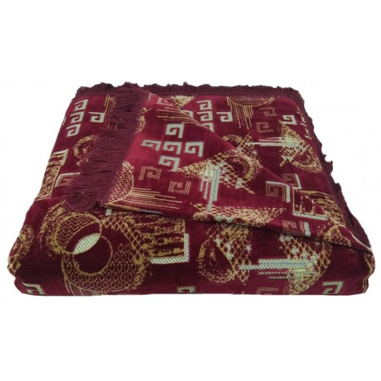 Комплект дивандеков для мягкой мебели 180х220 шпигель, рис. Геометрия бордо