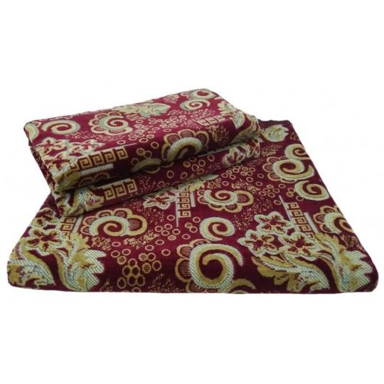 Комплект дивандеков для мягкой мебели 180х220 шпигель, рис. Гребешок бордо