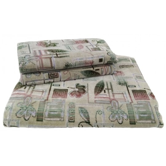 Комплект дивандеков для мягкой мебели 160х220 шпигель, рис. Лабиринт перламутр
