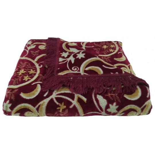 Комплект дивандеков для мягкой мебели 160х220 шпигель, рис. Луна бордо