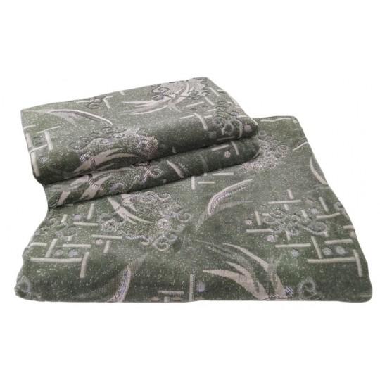 Комплект дивандеков для мягкой мебели 160х220 шпигель, рис. Набросок зеленый