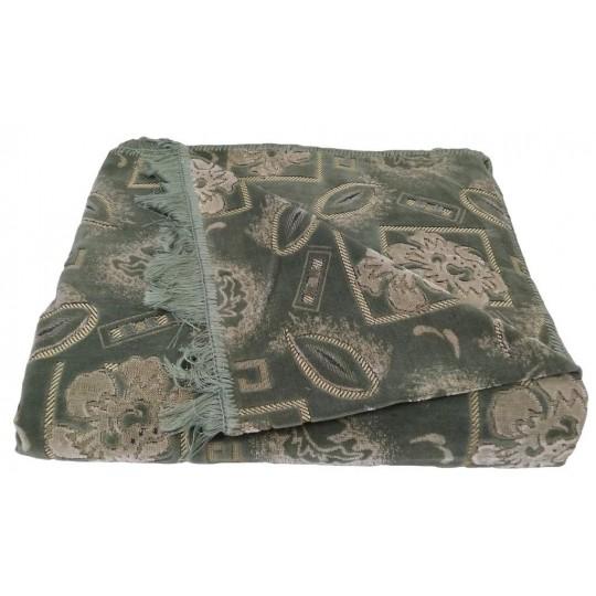 Комплект дивандеков для мягкой мебели 160х220 шпигель, рис. Пион зеленый