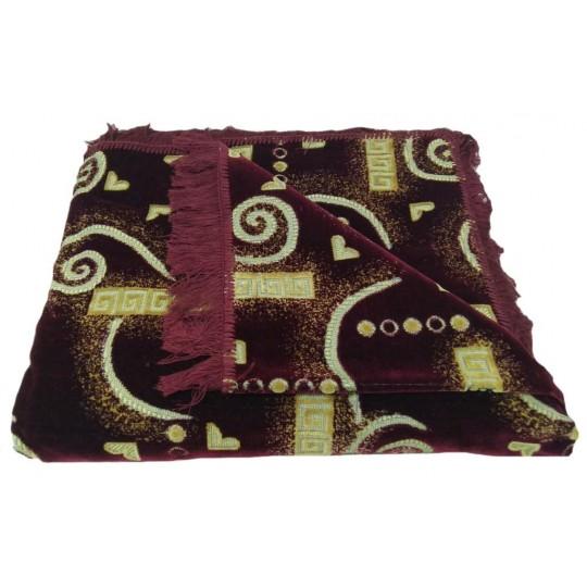 Комплект дивандеков для мягкой мебели 180х220 шпигель, рис. Сердечки бордо