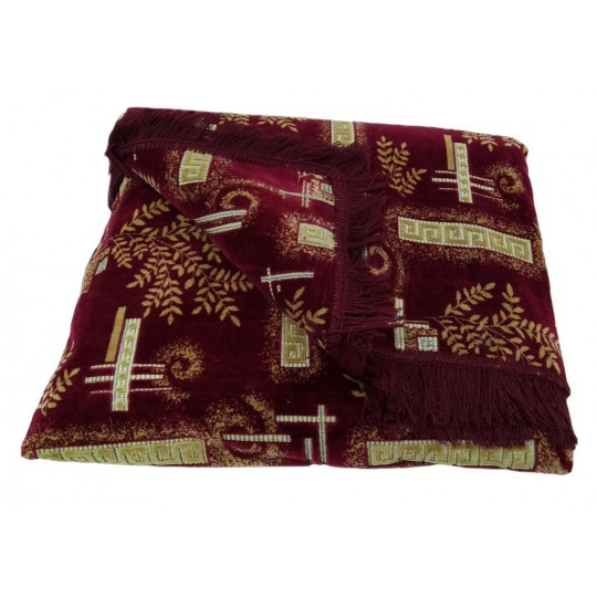 Комплект дивандеков для мягкой мебели 160х220 шпигель, рис. Веточки бордо
