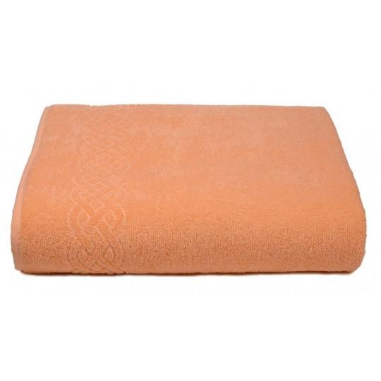 01933 Простыня махровая Plait 200х220 см, персиковая