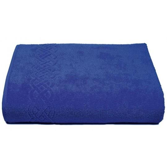 01933 Простыня махровая Plait 200х220 см, синяя