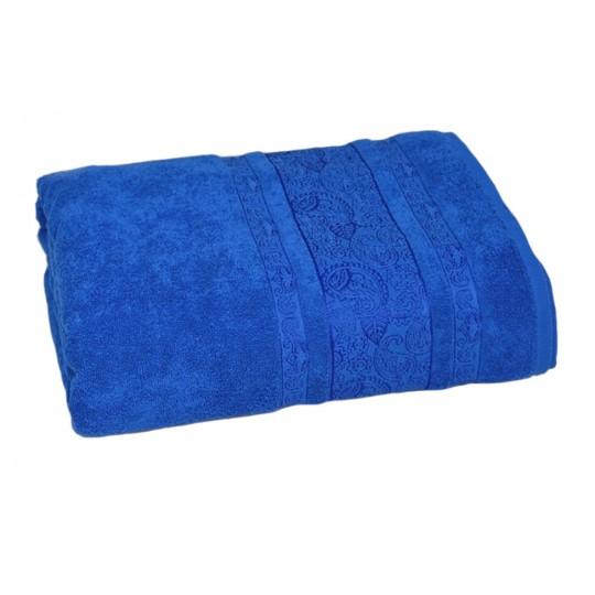 Простыня 200х220 см махровая Бодрум, синяя