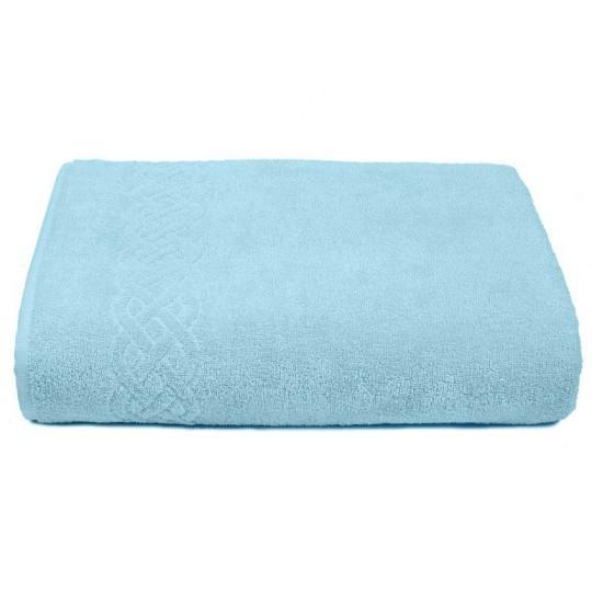 01933 Простыня махровая Plait 200х220 см, голубая
