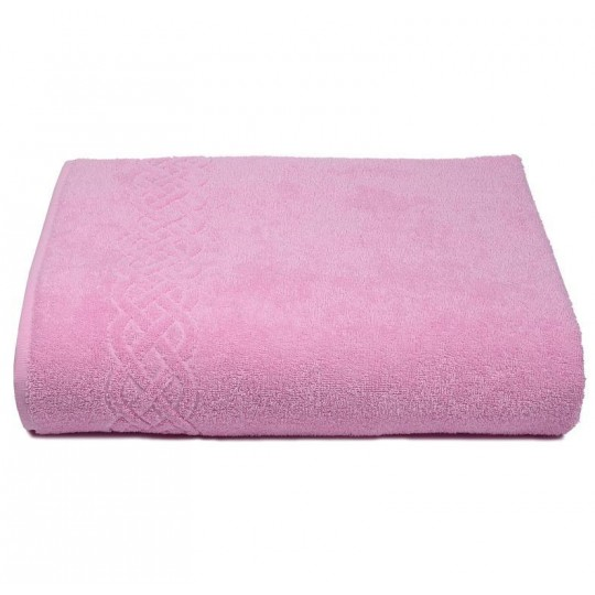 01933 Простыня махровая Plait 200х220 см, розовая