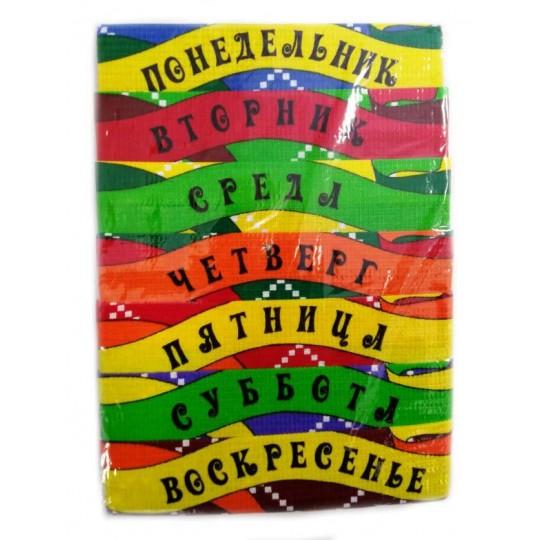 Комплект вафельных полотенец Неделька №1