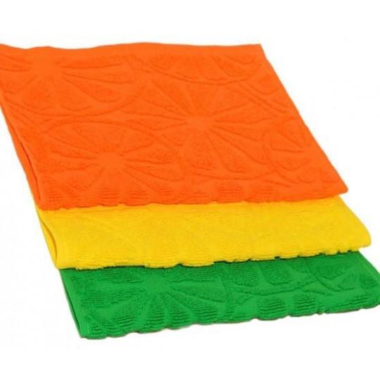 Полотенце 30х50 махровое Апельсин