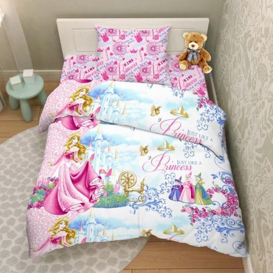 КПБ Disney бязь 1,5 спальный рис. 4448 Замок Авроры