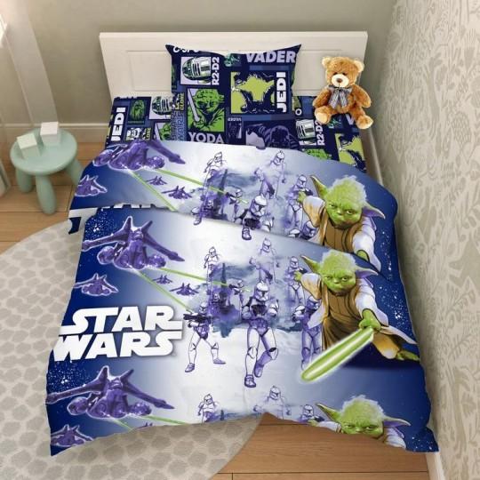 КПБ Disney бязь 1,5 спальный рис. 5145 Мастер Йода