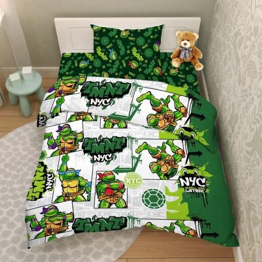 КПБ Disney бязь 1,5 спальный рис. 5503 Черепашки-Ниндзя