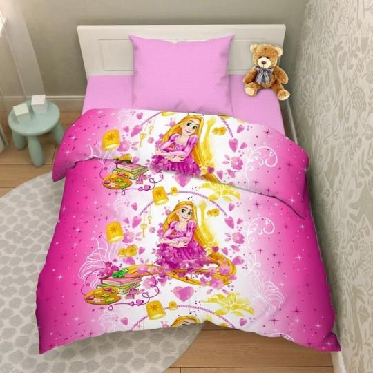 КПБ Disney бязь 1,5 спальный рис. 7207 Милая Рапунцель