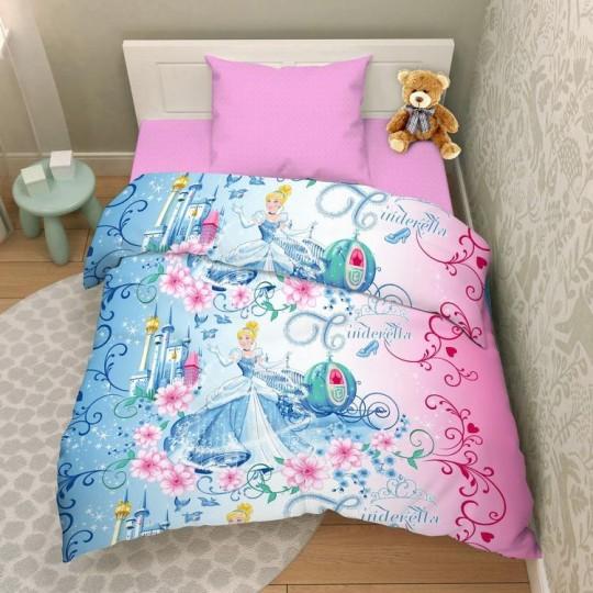 КПБ Disney бязь 1,5 спальный рис. 7231 Прекрасная Золушка