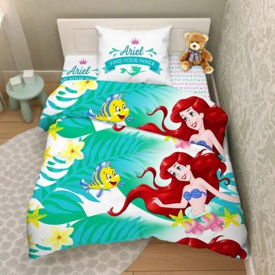 КПБ Disney бязь 1,5 спальный рис. 7729 Мир Русалочки