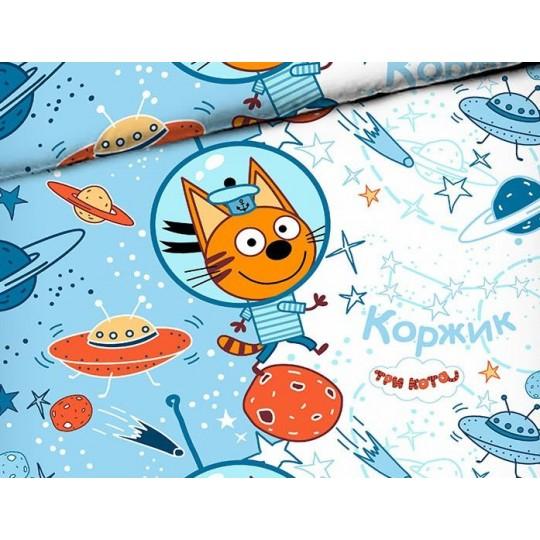 КПБ Disney бязь 1,5 спальный рис. 7955 Коржик в космосе