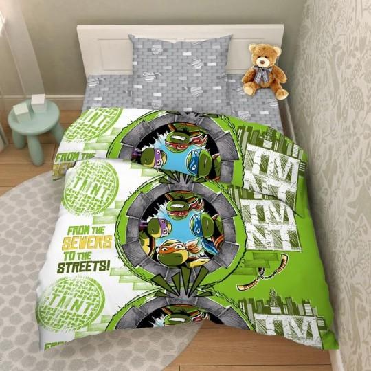 КПБ Disney бязь 1,5 спальный рис. 7978 Крутые черепашки