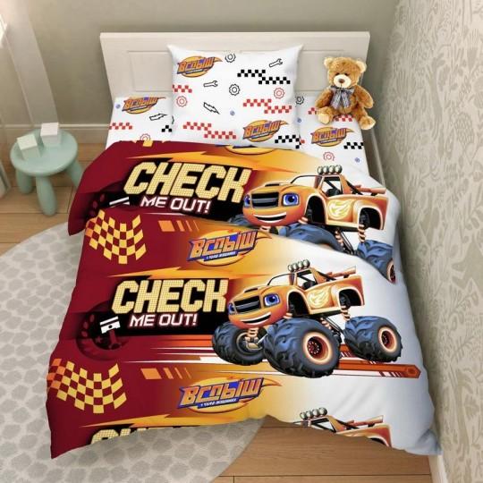 КПБ Disney бязь 1,5 спальный рис. 7982 Вспыш