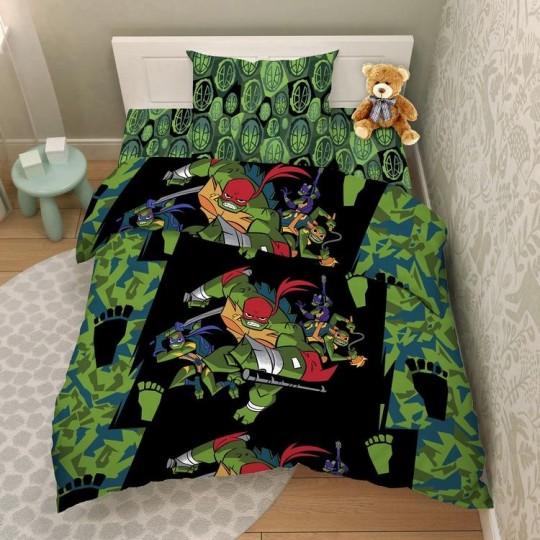 КПБ Disney бязь 1,5 спальный рис. 9502 Эволюция черепашек