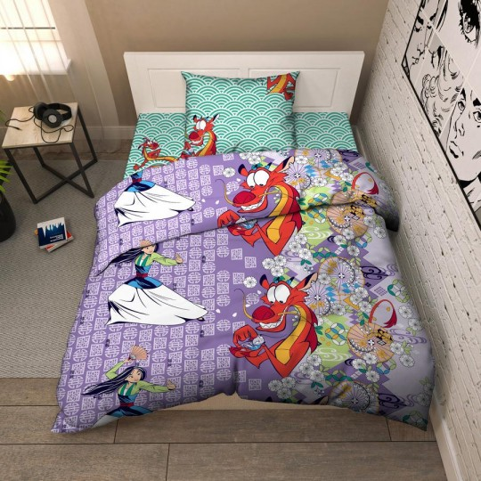КПБ Disney бязь 1,5 спальный рис. 9579 Мулан и Мушу