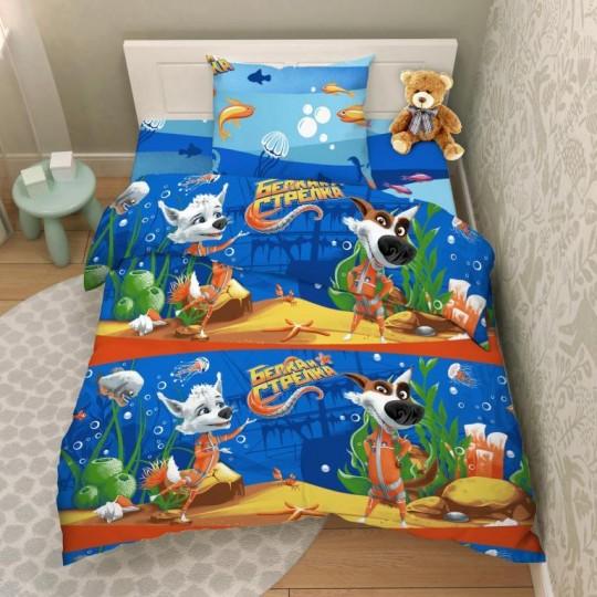 КПБ Disney бязь 1,5 спальный рис. 9621 Приключения Белки и Стрелки
