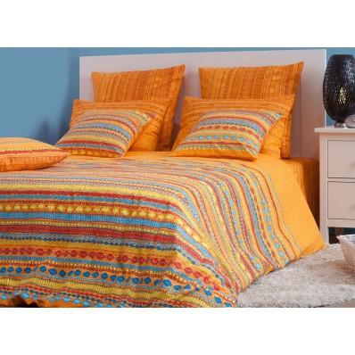 КПБ Хлопковый край бязь-люкс 1,5 спальный рис. Танзания оранж