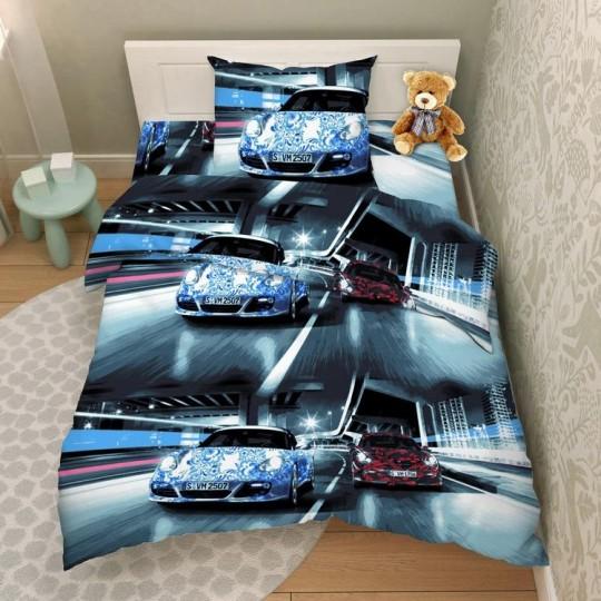 КПБ Василек бязь 1,5 спальный рис. 4345 Русские гонки