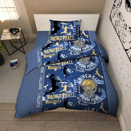 КПБ Василек бязь 1,5 спальный рис. 9381 Баскетбол