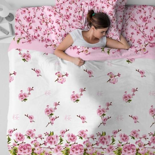 КПБ Василиса бязь 1,5 спальный рис. 3420 Цветение персика
