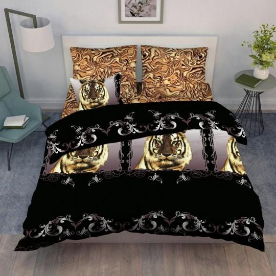 КПБ Василиса бязь 1,5 спальный рис. 3643 Бенгальский тигр