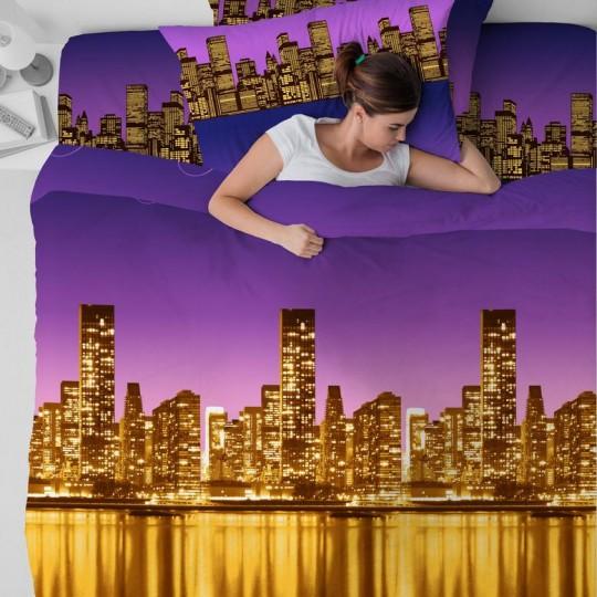 КПБ Василиса бязь 1,5 спальный рис. 3698 Ночной город