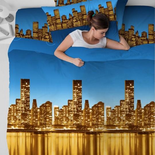 КПБ Василиса бязь 1,5 спальный рис. 3698-2 Ночной город
