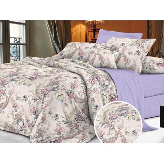 КПБ De Luxe сатин 1.5 спальный,  рис. Анэля