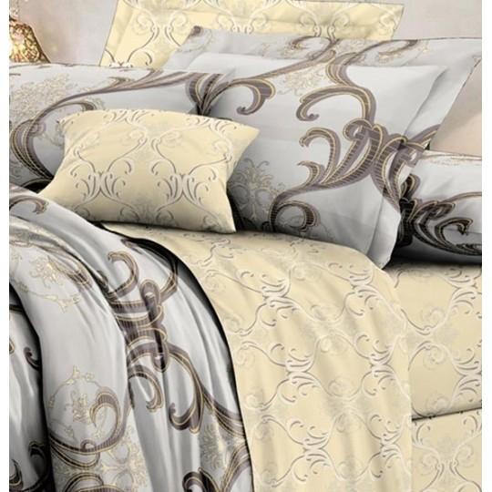 КПБ De Luxe сатин 1.5 спальный,  рис. Арголис