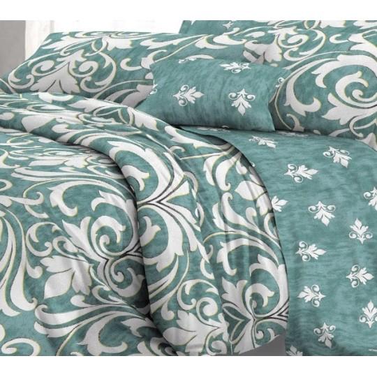 КПБ De Luxe сатин 1.5 спальный,  рис. Атриум