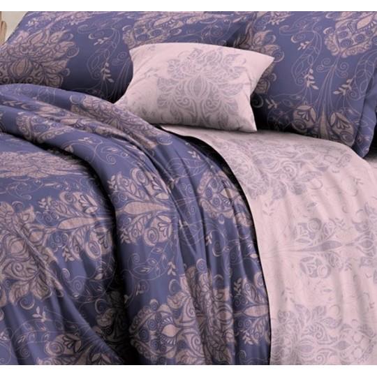КПБ De Luxe сатин 1.5 спальный,  рис. Бейла