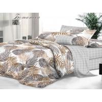 КПБ De Luxe сатин 2 спальный Макси,  рис. Ботаника