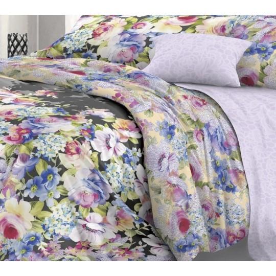 КПБ De Luxe сатин 1.5 спальный,  рис. Царевна