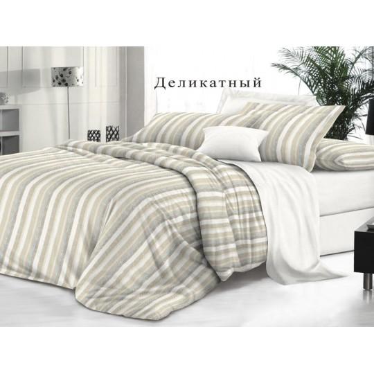 КПБ De Luxe сатин 1.5 спальный,  рис. Деликатный