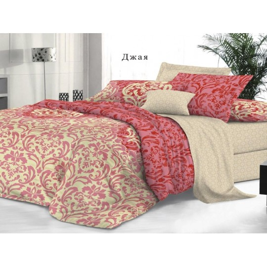 КПБ De Luxe сатин 2 спальный Макси (молния),  рис. Джая