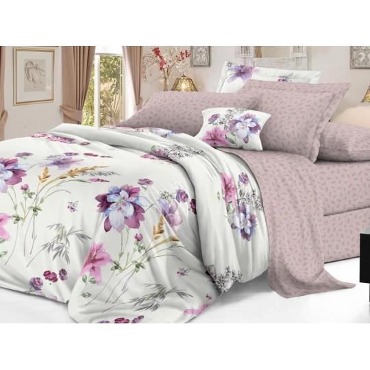 КПБ De Luxe сатин 1.5 спальный,  рис. Элисия
