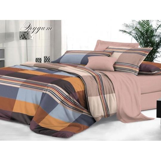 КПБ De Luxe сатин 1.5 спальный,  рис. Эрудит