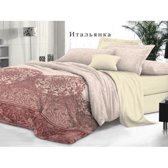КПБ De Luxe сатин 1.5 спальный,  рис. Итальянка
