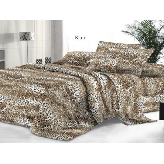 КПБ De Luxe сатин 1.5 спальный,  рис. Кэт