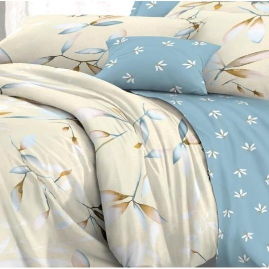 КПБ De Luxe сатин 1.5 спальный,  рис. Комфорт