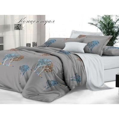 КПБ De Luxe сатин 2 спальный Макси,  рис. Концептуал